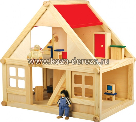 Домик из дерева игрушечный